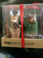 Tag Deer and Bear Salt Pepper Shakers New in Box