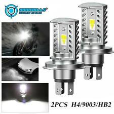 2PCS IRONWALLS H4 HB2 9003 LED Headlight Bulbs Kit High Low Beam 6000K HID White