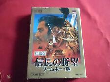 NOBUNAGA'S AMBITION GAME BOY  japan game