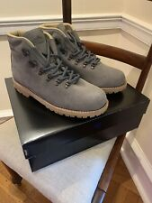 New! $400 Sz 10.5 Merrell Wilderness Hiking Boots. Steel Grey Suede. Made In USA
