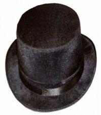 Mens Gents Unisex Top Hat Indestructible Black Velour Topper Hat 1920s