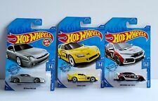 2020 Hot Wheels Honda 98 Honda Prelude silver S2000 Civic Type R  Lot of 3 cars