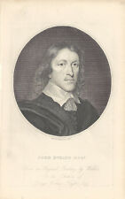 """Engraving of John Evelyn Esq from """"Anecdotes of Painting in England..."""""""
