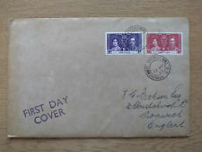 1937 King George VI Coronation first day cover, from Grenada to UK