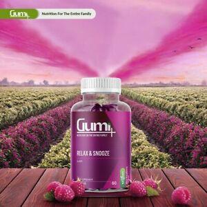 Vitamin Gumi Halal 5-HTP Relax & Snooze Vegan Gummy Raspberry Food Supplements
