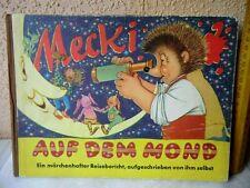 Altes Mecki Bilderbuch Auf dem Mond Hammerich & Lesser Verlag 1959