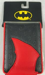 CONCEPT ONE DC BATMAN BIFOLD SNAP CLOSURE MENS WALLET RED ON BLACK BRAND NEW
