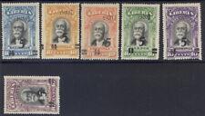 Liberia 1920, overprint set of six, UPRIGHT left quad killer RR #178-82,179a
