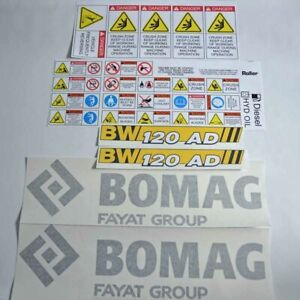 Decal Sticker Set Bomag 120AD-5 Roller Decal Set