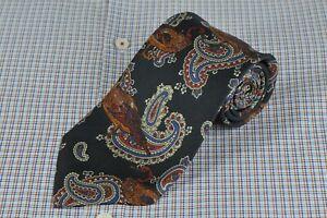 Jos A Bank Exec. Men's Tie Black Mallard Paisley Printed Silk Necktie 60 x 3.5