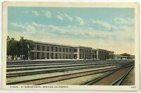 El Garces Hotel Needles California Street View Railroad Tracks Vintage Postcard