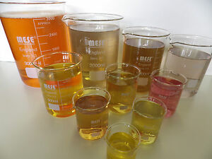 Borosilicate Glass Beakers 50, 100, 150, 200, 800, 1000 & 3000 ml