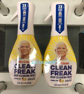 (2-pack) Mr. Clean Freak Multi Surface Deep Cleaning Mist Lemon Zest 16oz Spray