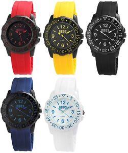 Armbanduhr mit Silikonarmband, hochwertiges Quarzuhrwerk, spritzwassergeschützt