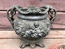 Ornate Heavy Cast Metal N Muller'S Sons Cherub Banquet Lamp Base 1880's Antique