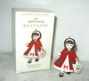 2006 Hallmark Madame Alexander Doll Christmas Tea Ornament #11