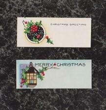 Lot 2 Vintage Unused Christmas Gift Tags 3 x 1 inch