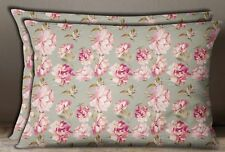 S4Sassy Cotton Poplin 1 Pair Floral Print Rectangle Pillow Sham Home Decorative