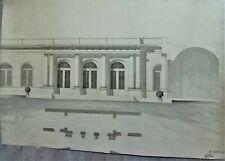 LAVIS-ENCRE-PLAN-PROJET-ARCHITECTURE-PALAIS-DEMEURE-R. VITTE-ATELIER-16-
