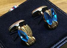 """Paul Smith boutons de manchette """"gold tone voler avec bleu ailes"""" Paul Smith Signature Swings"""