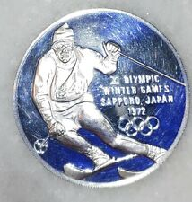 1972 Olympic Winter Games Sapporo Japan Sterling Silver Proof Round 27.5 Grams