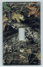 Mossy Oak Break Up Light Switch Plate Cover Camo Deer Hunting Single Toggle