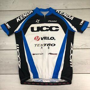 Mens Kenda Prowheel Novatec UCC Zoom Full Zip Pro Cycling Jersey Sz XXL 2XL