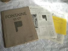 Vintage catalogue Garage and sliding Doors fittings etc Fontaine & Cie 1925