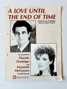 A Love Until The End Of Time Sheet Music - Placido Domingo/ Maureen McGovern