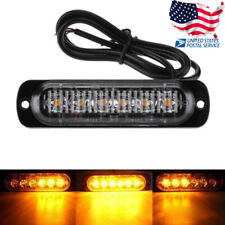 Amber 6 LED Car Truck Emergency Beacon Warning Hazard Flash Strobe Light Bar