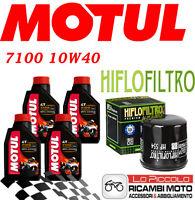 MV AGUSTA F4 750 2001 2006 KIT TAGLIANDO 4 LT MOTUL 7100 10W40 + FILTRO OLIO