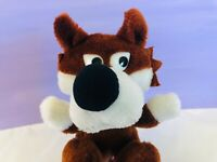 Vintage Wallace Berrie Wolf, Stuffed Animal, Plush Wolf, 1984, Cute 1980s Toys
