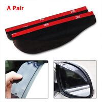 Pair Car Rear View Wing Mirrors Black Sun Visor Shield Rain Board Eyebrow Guard