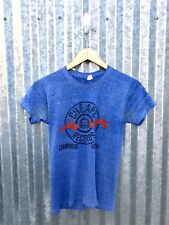 Vintage Thin Heather Blue Cheapo Records Rock Punk Emo Shirt Redone XS Small 32""
