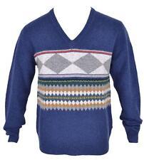 c949b7d23b4 New Burberry Brit Men s  350 100% Lambs Wool Geometric V Neck Sweater Shirt  S
