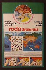 2 roda chromo-rama années 70 décalcomanies oiseaux animaux marins  20 x 30 cm