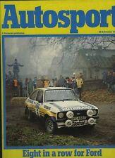Autosport Nov 29th 1979 * Rally Rac & Carro Usac temporada revisión y Macau Grand Prix *