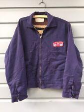 Vintage Ford Men's Blue Mechanics Work Jacket Setlow Size 42 Flannel Lining