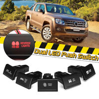 Amber/Red Top Dual LED Push Button Switch Work Rear Spot Reverse For VW Amarok
