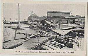 Asbury Park NJ Boardwalk Damage from Hurricane 1944