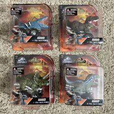 4x LOT Complete JURASSIC WORLD Zoom Riders Pullback Power Set Dinosaur - NEW
