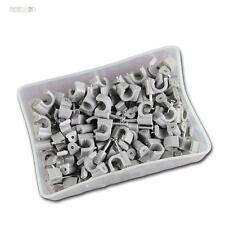 100 pinces à ongles gris, pour câble max Ø6mm , nagelclip serre-câble