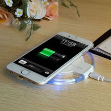 White Wireless Charging Dock Charger Pad+Receiver For Iphone 5 5s 5c 6 6s 7