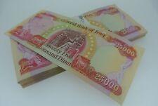 IRAQI DINAR (IQD) - OFFICIAL IRAQ CURRENCY - one 25,000