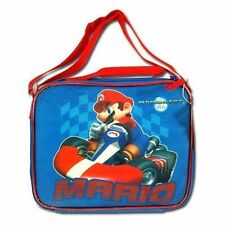 Lunch Bag Insulated + Shoulder Strap Nintendo Wii Mariokart Mario Bros Blue New