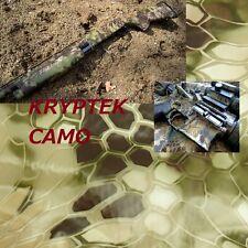 "2Pcs 19x39"" PVA  KRYPTEK camo Hydrographics Dipping Film Water Transfer Printing"