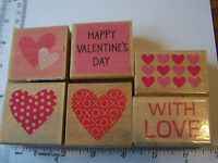 ANNIVERSARY WEDDING WITH LOVE VALENTINE'S DAY WM RUBBER STAMPS XO HEARTS MOTHER
