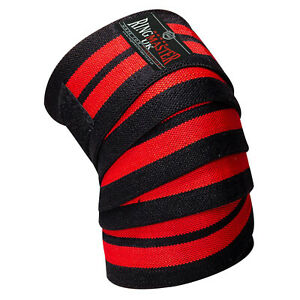"""RingMaster Knee Support Wrap Weightlifting Power Strength Training Bandages 78"""""""