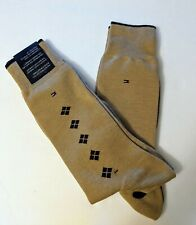 Tommy Hilfiger Men's Cotton Blend Brown Dress Casual 2 Pair Socks Size 9