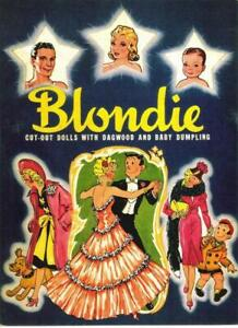 VINTAGE UNCUT 1940 BLONDIE PAPER DOLLS~#1 REPRODUCTION~RARE FIND-BEFORE COOKIE!!